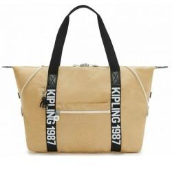 Женская сумка Kipling ART M Beige Black (85V) KI2522_85V