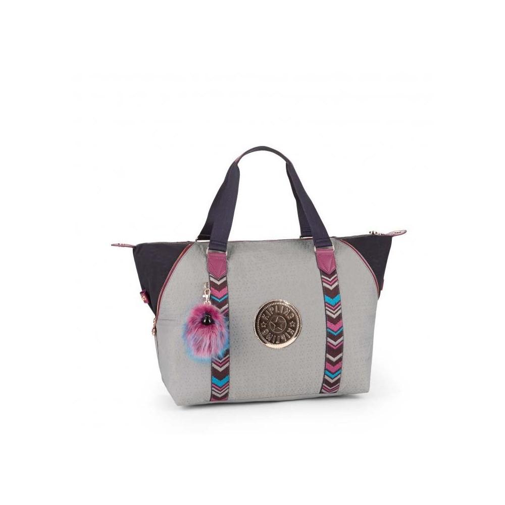 Жіноча сумка Kipling ART M Grey Emb Bl (08F) K14332_08F