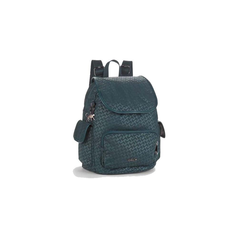 Рюкзак Kipling CITY PACK S Dk Emerald Emb (M75) K00085_M75