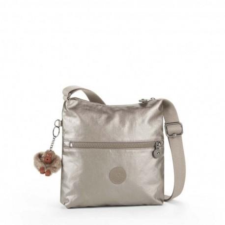 Жіноча сумка Kipling ZAMOR Metallic Pewter (L34) K12483_L34