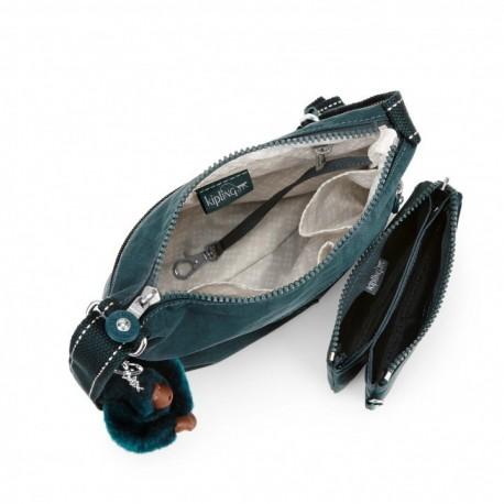 Женская сумка Kipling ZAMOR DUO Deep Emerald C (89W) K01659_89W