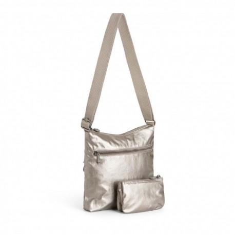 Женская сумка Kipling ZAMOR DUO Metallic Pewter (L34) K14893_L34
