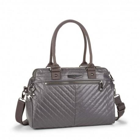 Жіноча сумка Kipling SUNBEAM Shiny Grey (V66) K12010_V66